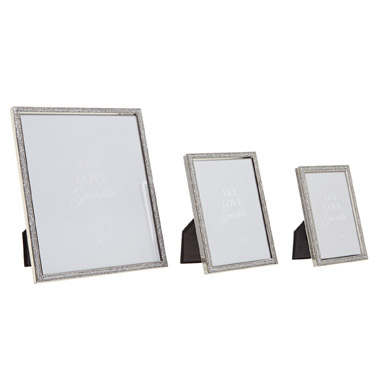Picture Frames | SILVER Glitter Frame | Dunnes Stores