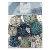 blue Geo Pot Pourri Pouch