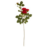 redTwo Rose Two Bud Stem