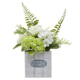 whiteFloral Wooden Box