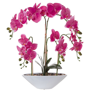 Artificial Flowers Pink Potted Orchid Dunnes Stores