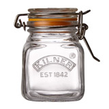 clear Kilner Clip Top Square Spice Jar