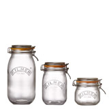 clear Kilner Clip Top Round Jar