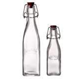 clear Kilner Clip Top Square Bottle