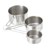 sless-steel Mason Cash Three Piece Measuring Cups Set