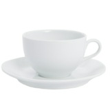 white Simply White Cup And Saucer
