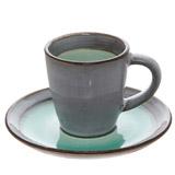 greenOrigin Espresso Cup And Saucer