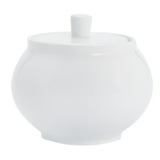 white Simply White Sugar Bowl With Lid