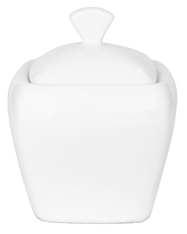 white Tempo Sugar Bowl With Lid