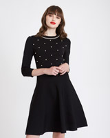 black Savida Pearl Knitted Dress