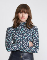 print Savida Print Turtle Neck Top
