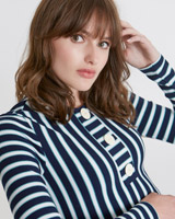 navy Savida Stripe Top