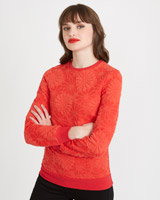 red Savida Flower Sweatshirt