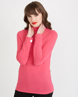 pink Savida Soft Button Cuff Top