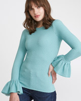 aqua Savida Dot Pattern Top