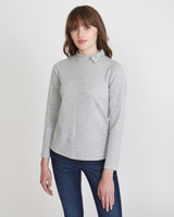 grey Savida Bow Neck Top