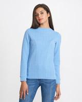 blueSavida Textured Design Top