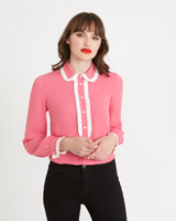 pink Savida Pleat Detail Blouse