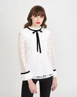 off-white Savida Pleat Collar Blouse
