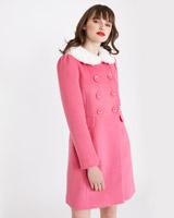 pinkSavida Scallop Edge Coat