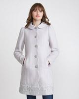 greySavida Lace Hem Coat