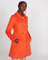 orangeSavida Ruffle Edge Coat