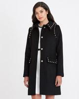blackSavida Stud Detail Coat