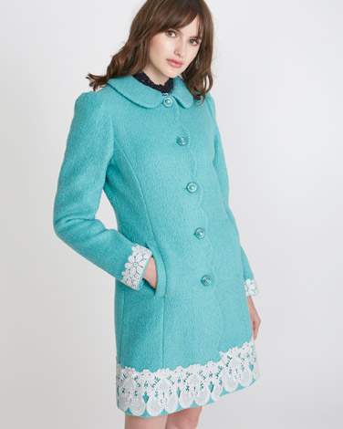 2df6de8cfb9 aqua Savida Lace Hem Coat (Online Exclusive)