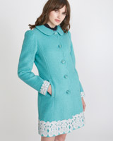 aqua Savida Lace Hem Coat (Online Exclusive)