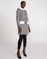 black-creamSavida Retro Check Coat