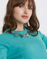 aqua Savida Jewelled Neck Jumper
