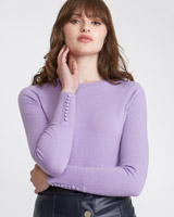 lilac Savida Button Back Jumper