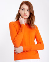 orange Savida Button Back Jumper
