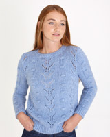 blue Savida Pointelle Jumper
