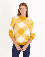 mustard Savida Check Pattern Jumper