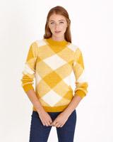 mustardSavida Check Pattern Jumper