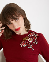 burgundy Savida Jewel Shoulder Jumper