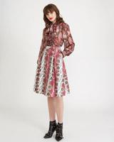 burgundySavida Snake PU Skirt