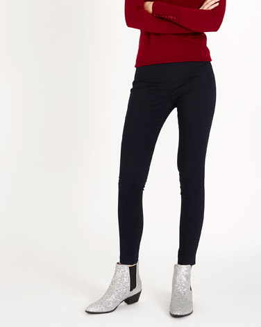 navy Savida Heidi Side-Zip Skinny Fit Jeans
