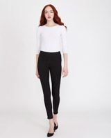 black Savida Heidi Side-Zip Skinny Fit Jeans
