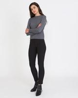 blackSavida Concealed Zip Trouser