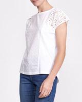 whiteBroderie Panel T-Shirt