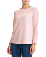 rose Solid Textured Top