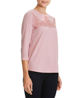 blush Lace Applique Top