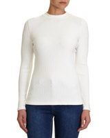 winter-white Long Sleeve Rib Top