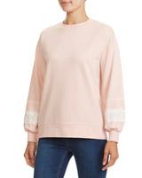 blushLace Trim Sweatshirt