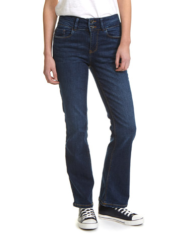 denim Mid Rise Essential Bootcut Fit Jeans