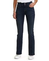indigo Mid Rise Bootcut Fit Jeans