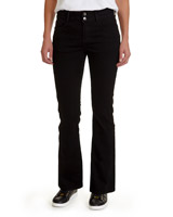 black Essential Mid Rise Bootcut Fit Jeans
