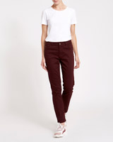burgundy Kate Mid Rise Straight Fit Jeans